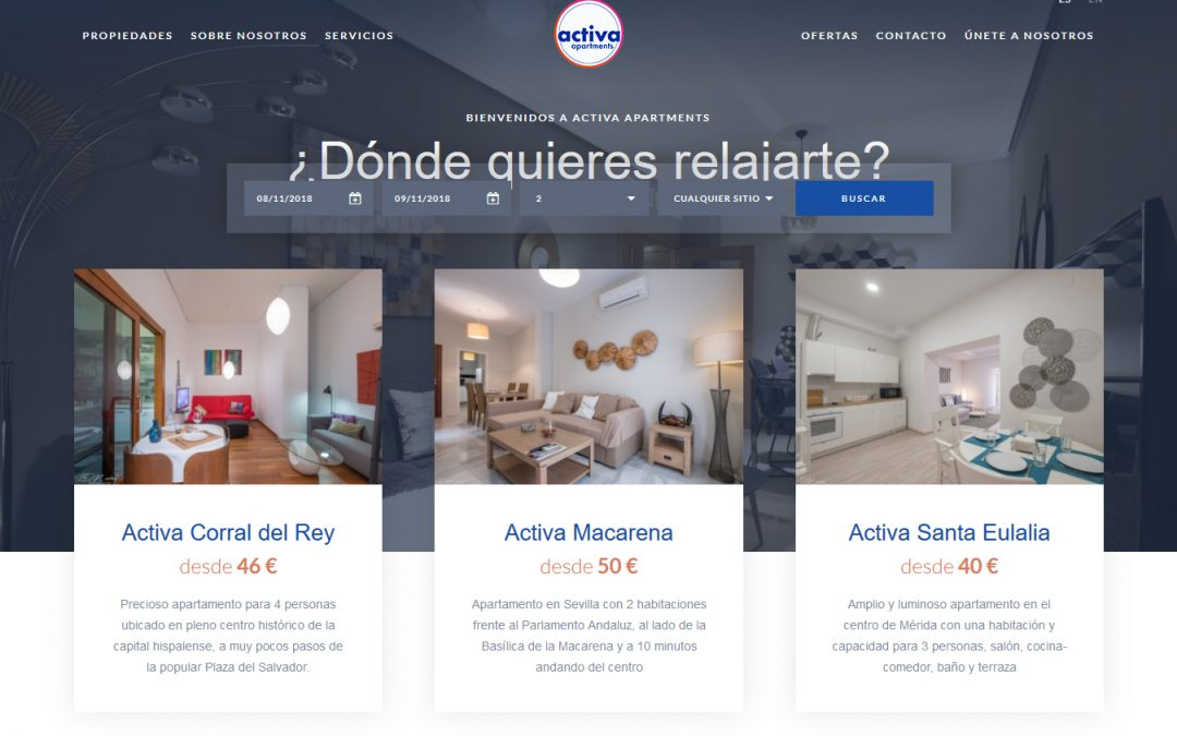 Nueva web de Activa Apartments