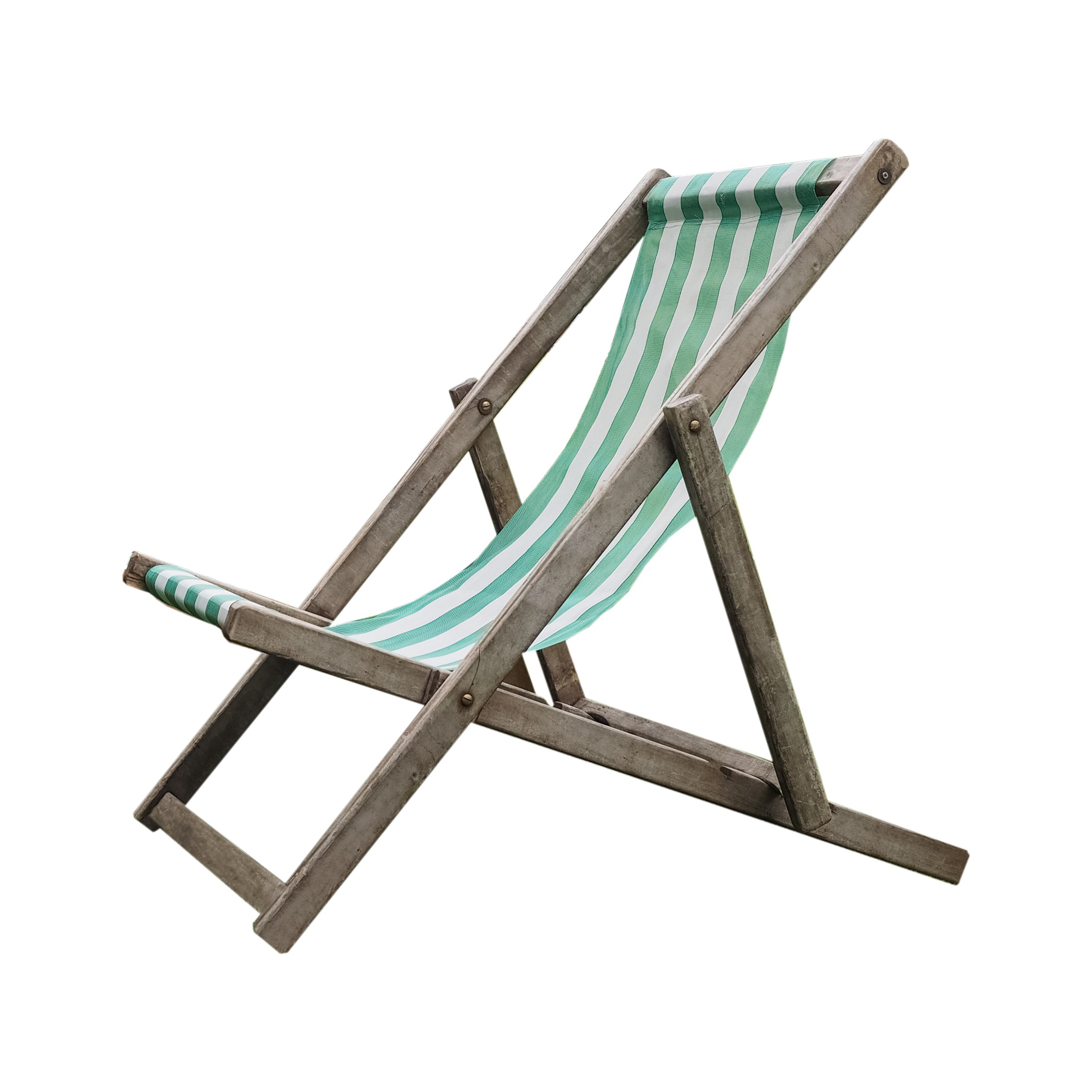 deck chair isolated over a white background
